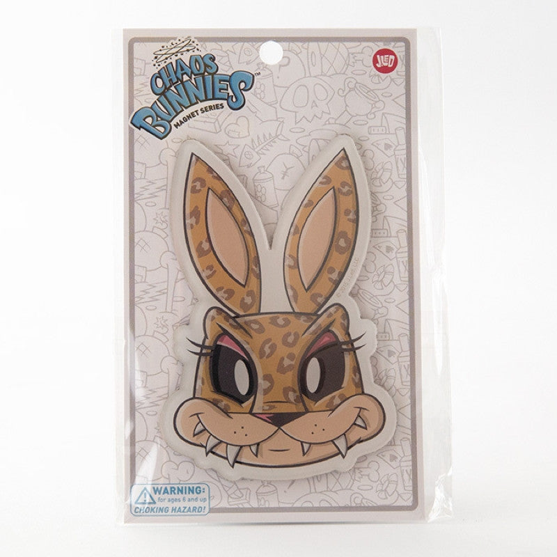 JLed Acrylic Magnet - Leopard Bunny