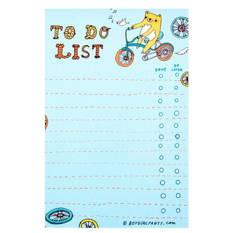 Bear To Do List Notepad by boygirlparty