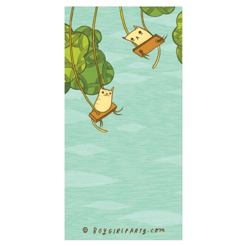 Swing Cats Notepad by boygirlparty