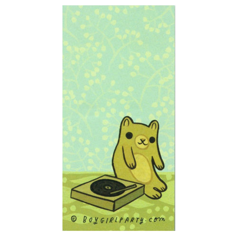 Music Bear Notepad by boygirlparty