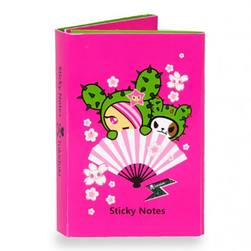 Sandy Cactus Friends Sticky Notebook