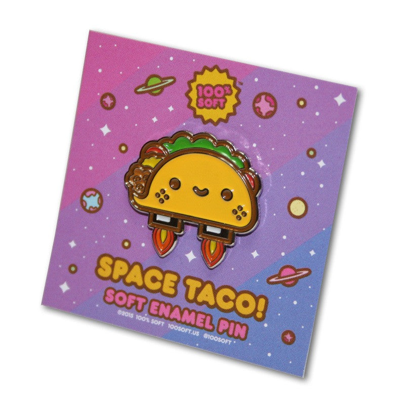 Space Taco Soft Enamel Pin