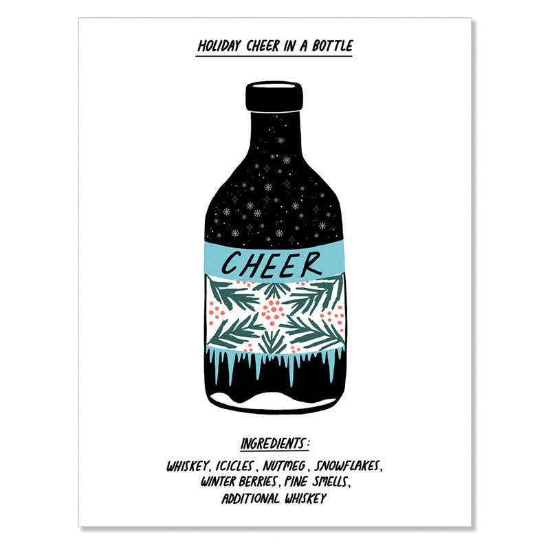 Bottled Cheer - Greeting Card