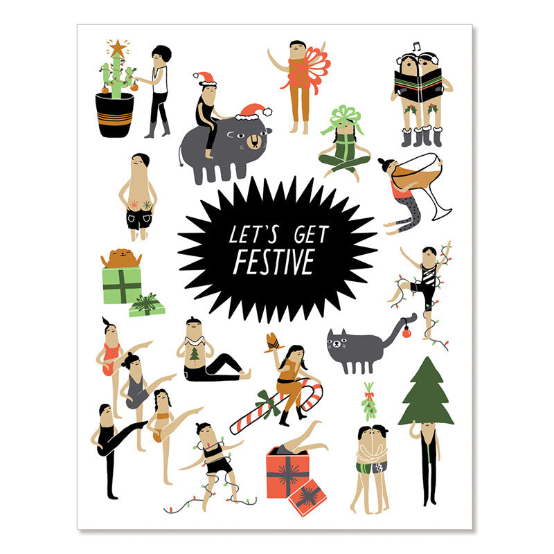 Let's Get Festive - Greeting Card