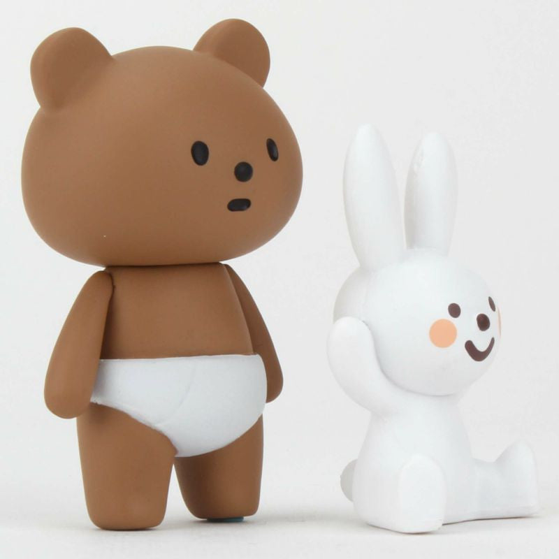 Nappy Bear & Naughty Rabbit Vinyl by Fluffy House