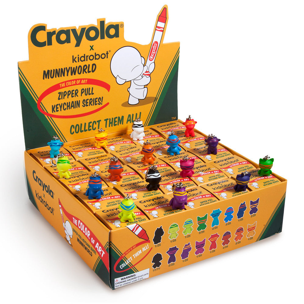 Crayola Munny Zipper Pulls - Single Blind Box