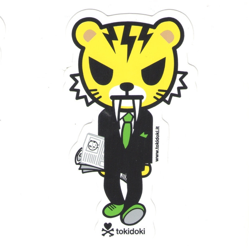 watch bde5f a2ee6 Tiger Salaryman - tokidoki Sticker | Rotofugi