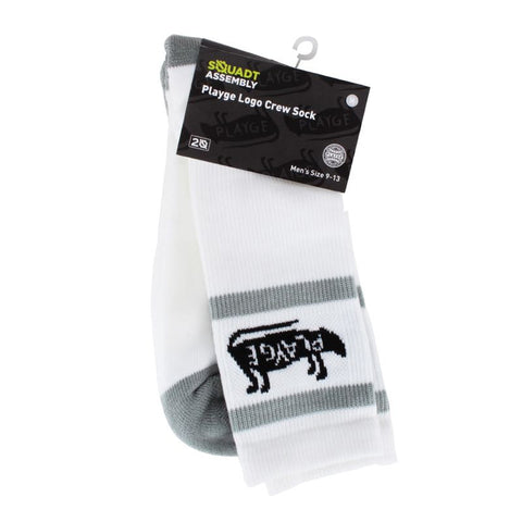 Playge Logo Crew Socks for Humans