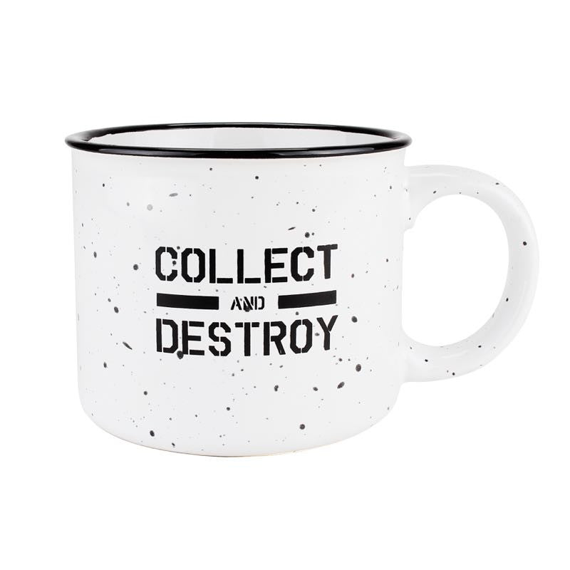Collect and Destroy Camp Mug
