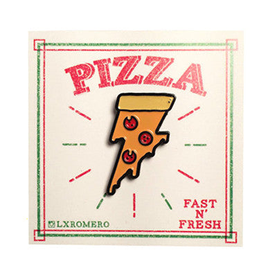 Lightning Pizza Enamel Pin