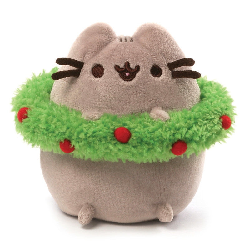 Christmas Wreath Pusheen - 4.5 Inches