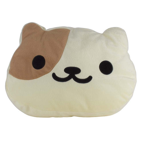 Neko Atsume Large Kororin Face Cushion - Peaches