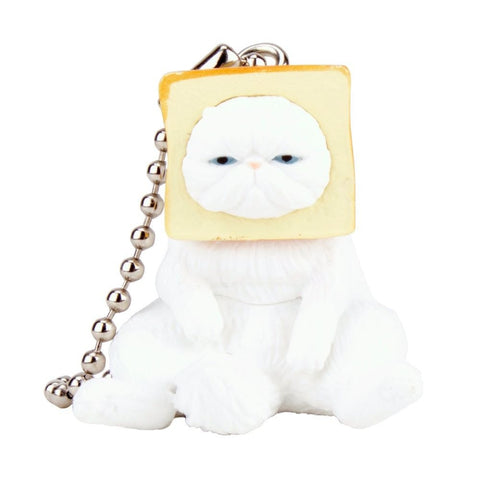 Toast Cats Gachapon with Ballchain - Random Assortment