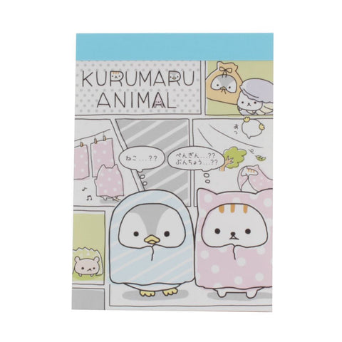 Kurumaru Animal Mini Notepad