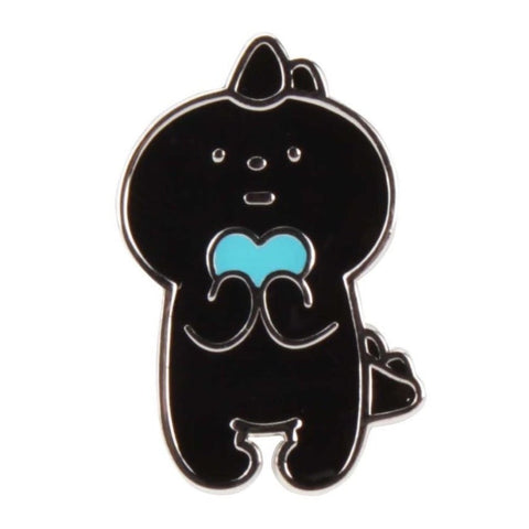 Silver Black Dyno by Fluffy House Enamel Pin