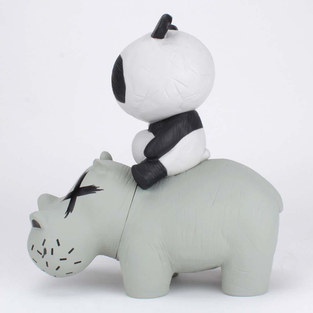 Panda Riding A Hippo (P.R.A.H) - Grey