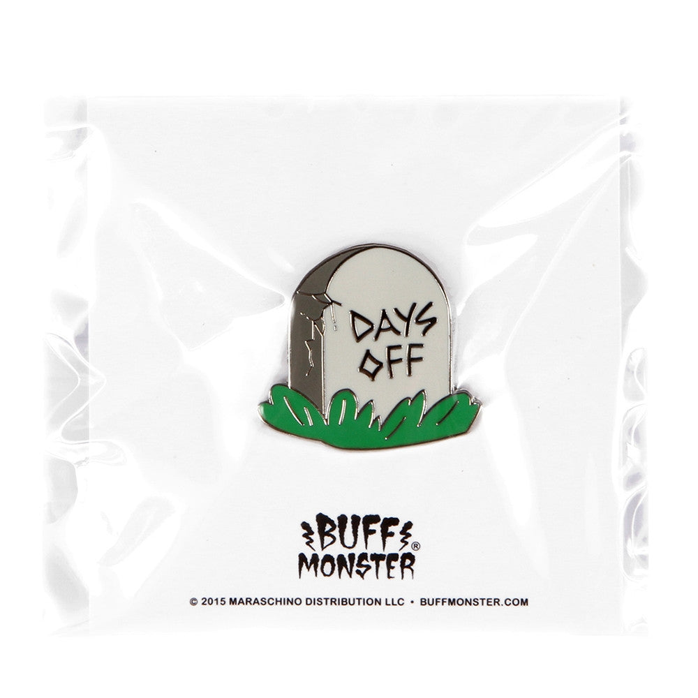 No Days Off Enamel Pin