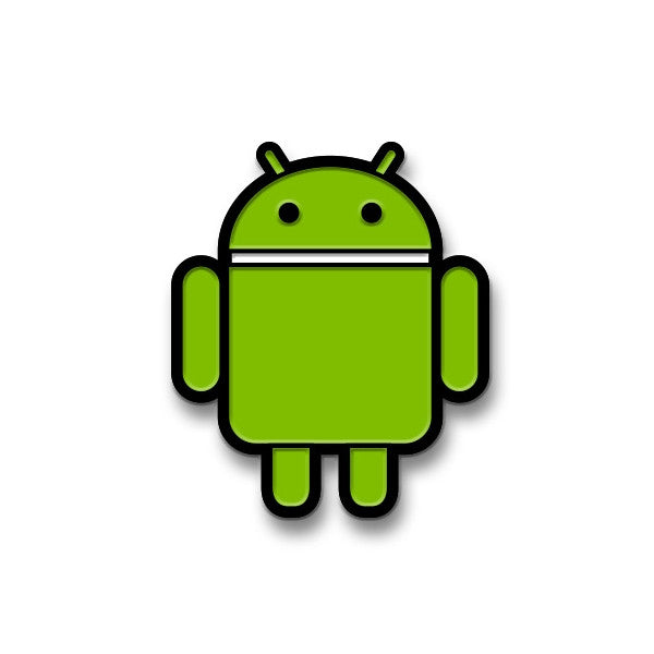 Standard Green Android Enamel Pin