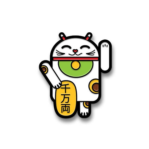 Luckycat Android Enamel Pin