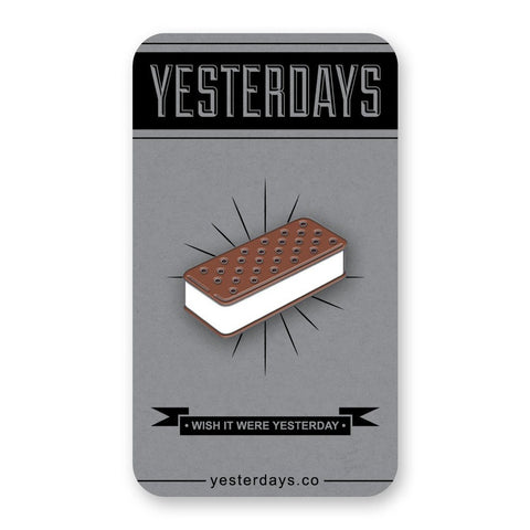 Ice Cream Sandwich Enamel Pin