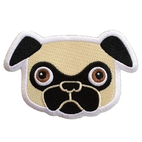 Tricky Pug -  Embroidered Patch