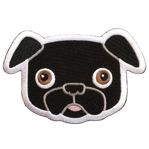 Buddy Pug -  Embroidered Patch