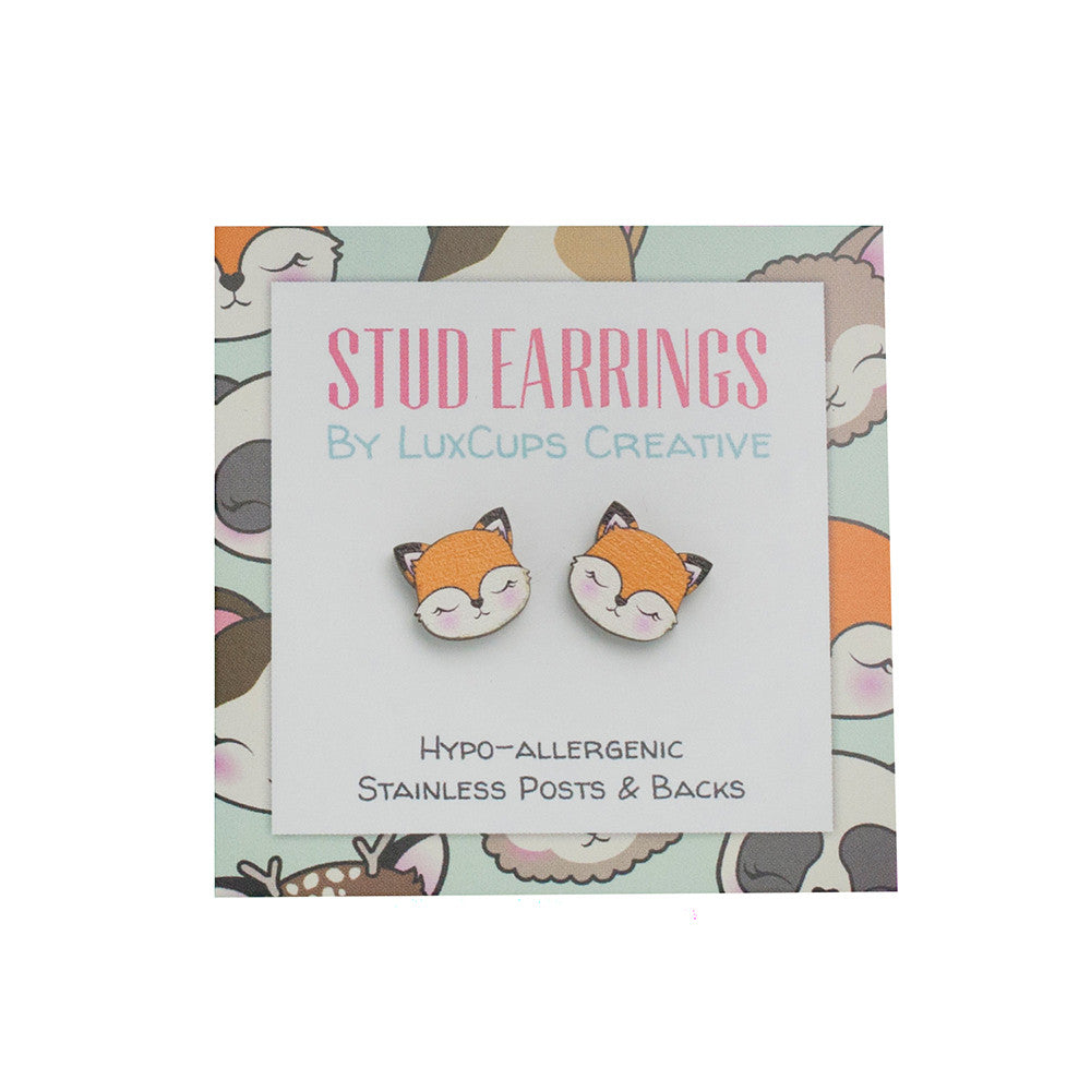 Fox Maplewood Earrings