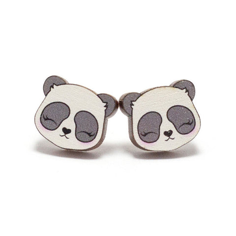 Panda Maplewood Earrings