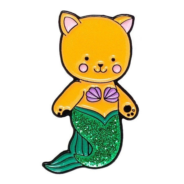 Mermaid Cat Enamel Pin