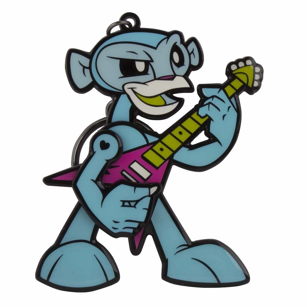 Rockin' Monkey Keychain (Blue) by JLed