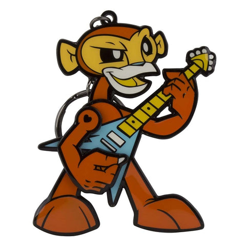 Rockin' Monkey Keychain (Orange) by JLed