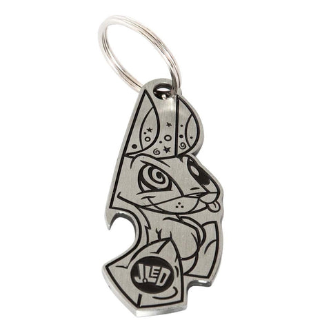 JLed Mr. Bunny Metal Bottle Opener/Keyring