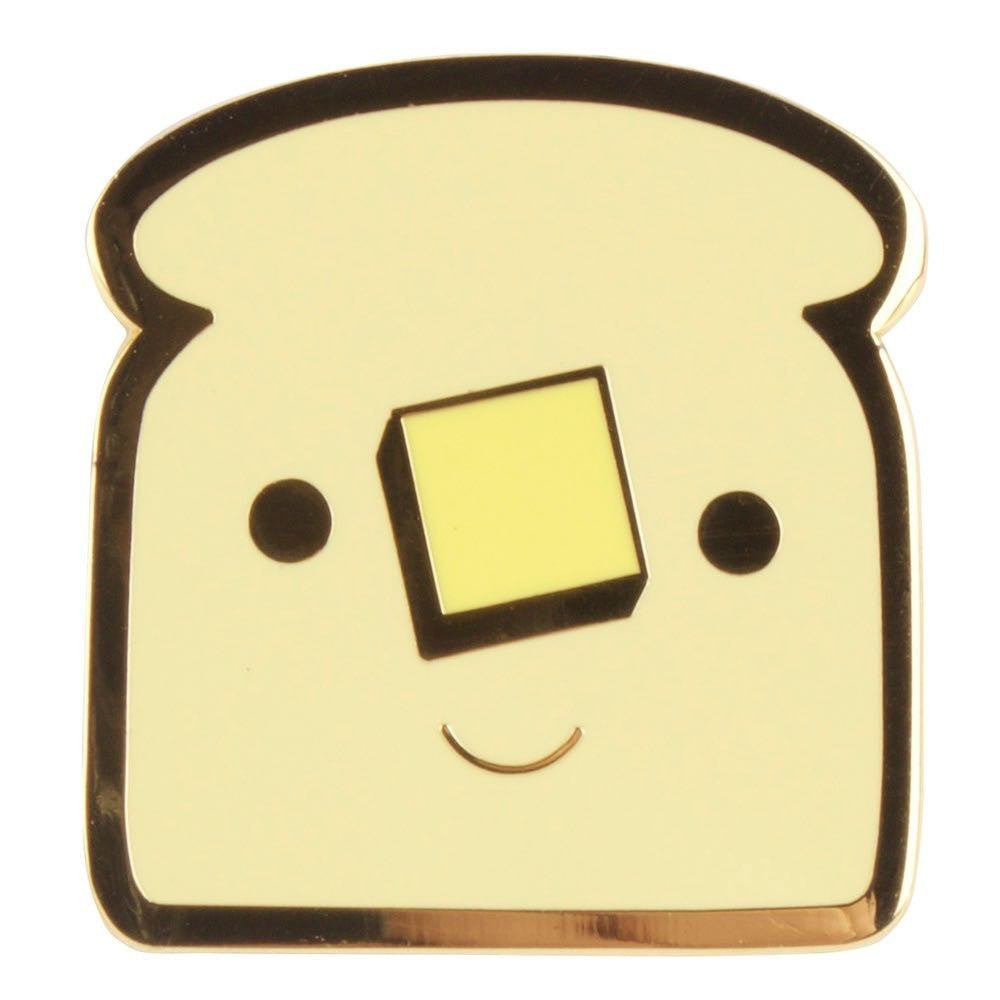 Buttered Toast Enamel Pin