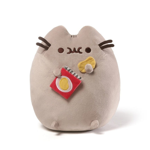 Pusheen with Potato Chips  - 9.5 Inch Plush