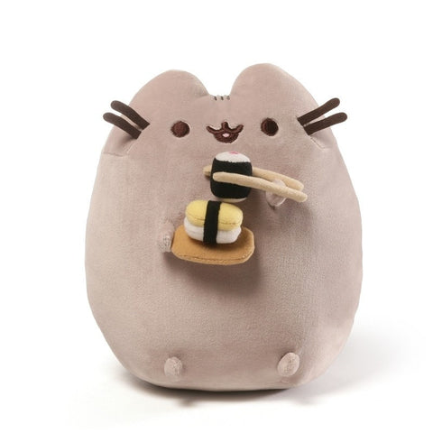 Pusheen with Sushi- 9.5 Inch Plush