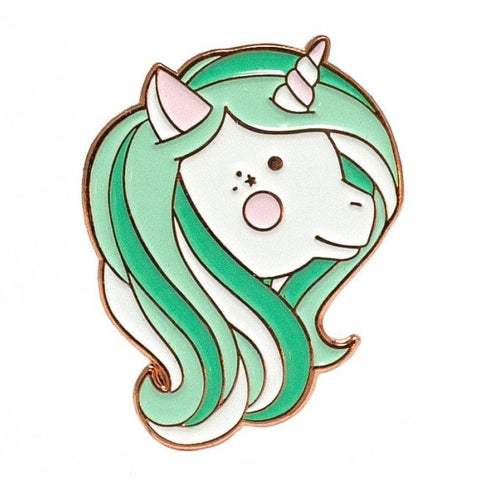 Mint Unicorn Enamel Pin