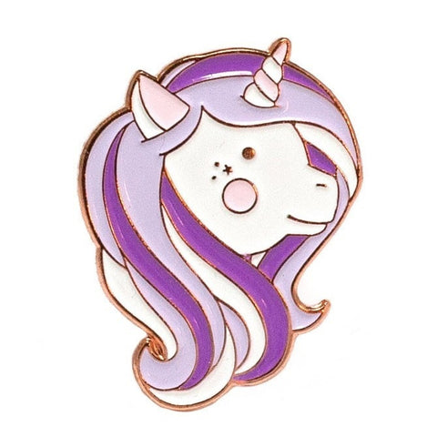 Purple Unicorn Enamel Pin