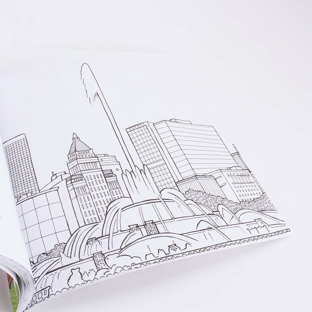 The Chicago Coloring Book: Iconic Landmarks and Hidden Gems by Chris Arnold