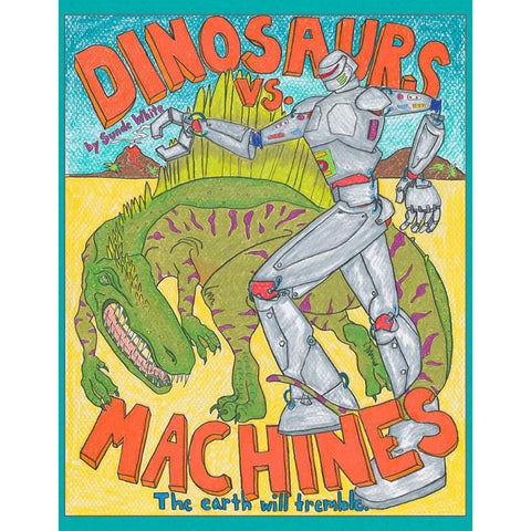 Dinosaurs vs. Machines Coloring Book