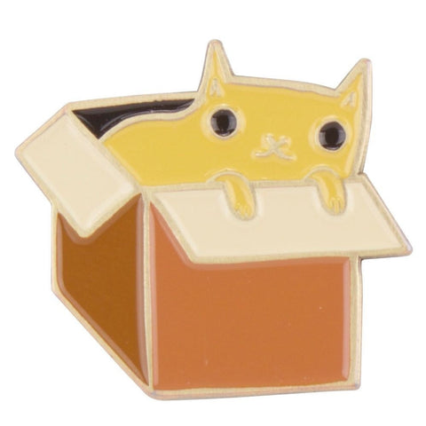 Box Cat Enamel Pin by boygirlparty