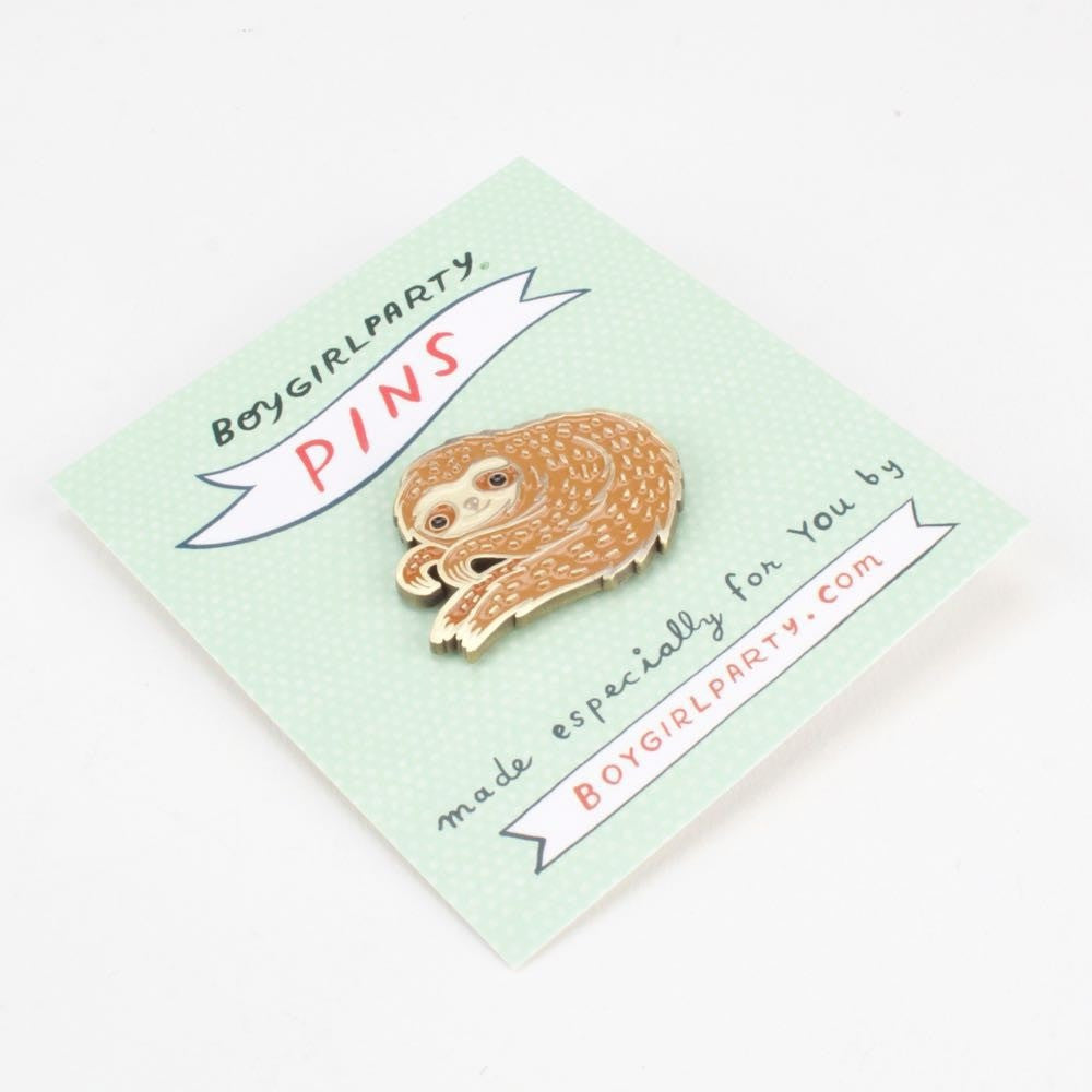 Sloth Enamel Pin by boygirlparty