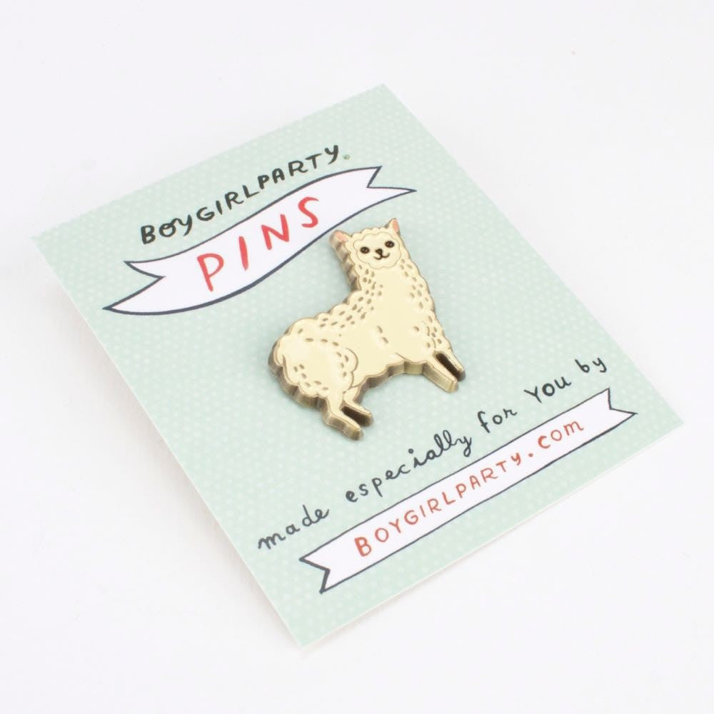 Llama Enamel Pin by boygirlparty