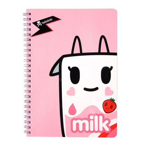 Strawberry Milk Spiral Notebook