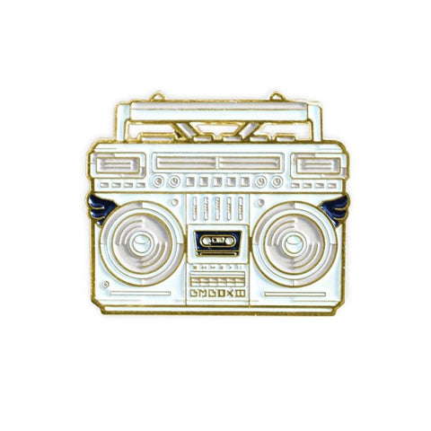BMBOX Enamel Pin (White) by Elena Kazi