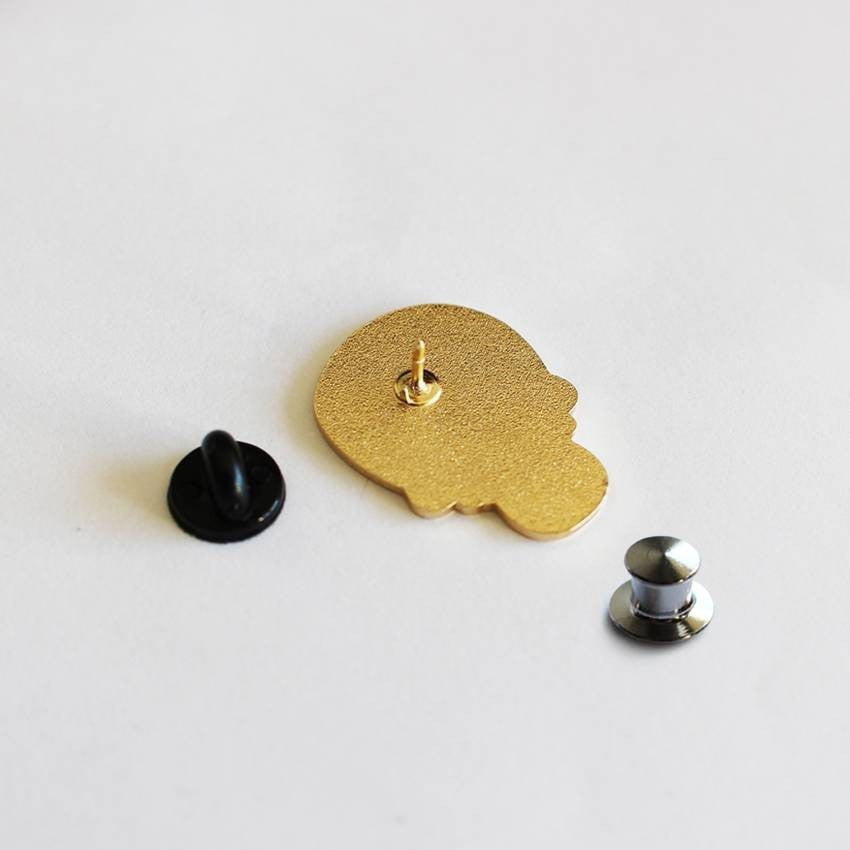 Calavera Duro Enamel (Black and Gold) by Creamlab