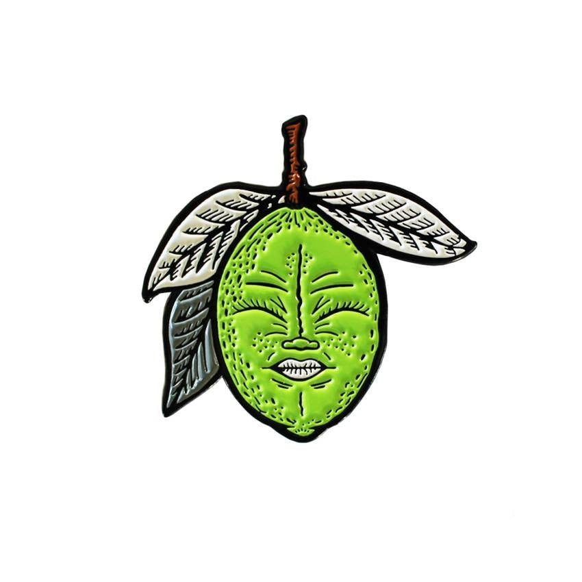 Lemony (Green) Enamel Pin by Creamlab