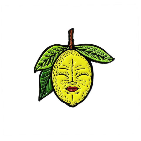 Lemony (Yellow) Enamel Pin by Creamlab
