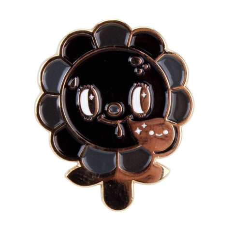 Megapolitan Bloom Pin (Black and Gold) by Squink
