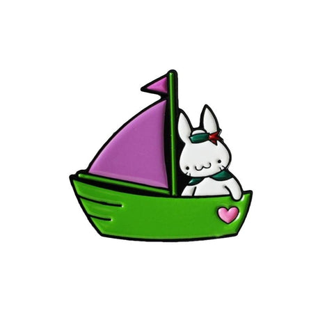 Sailor Bun Enamel Pin (Purple and Green) by Haus of Boz