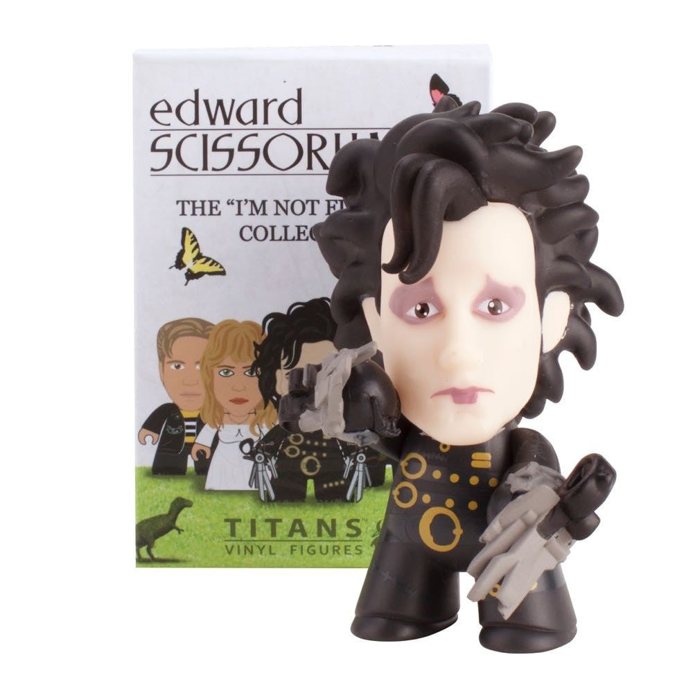 Edward Scissorhands I/'m Not Finished Yet Titans Vinyl Mini Figure Blind Pack